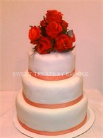 3 Tier Fondant Wedding Cake
