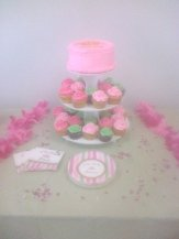 Babyshower Cupcake Stand with Cake Topper