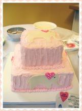 Baby Shower Cake with Fondant Elephants