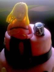 Gumpaste Preggers & Cat Cake Toppers