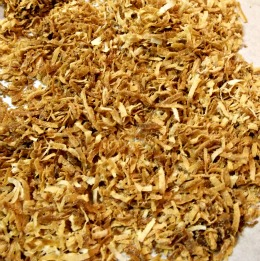 Beautifully toasted coconut