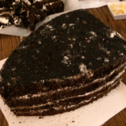 Initial shape of sailboat cake