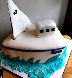 Sailboat cake via Adventures of a Cake Diva