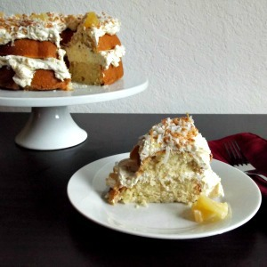 Coconut Pound Cake with Pineapple Curd